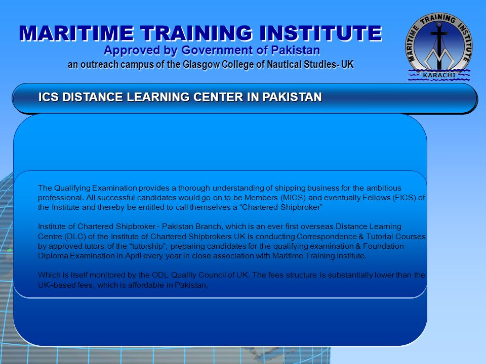 ICS DISTANCE LEARNING CENTER IN PAKISTAN