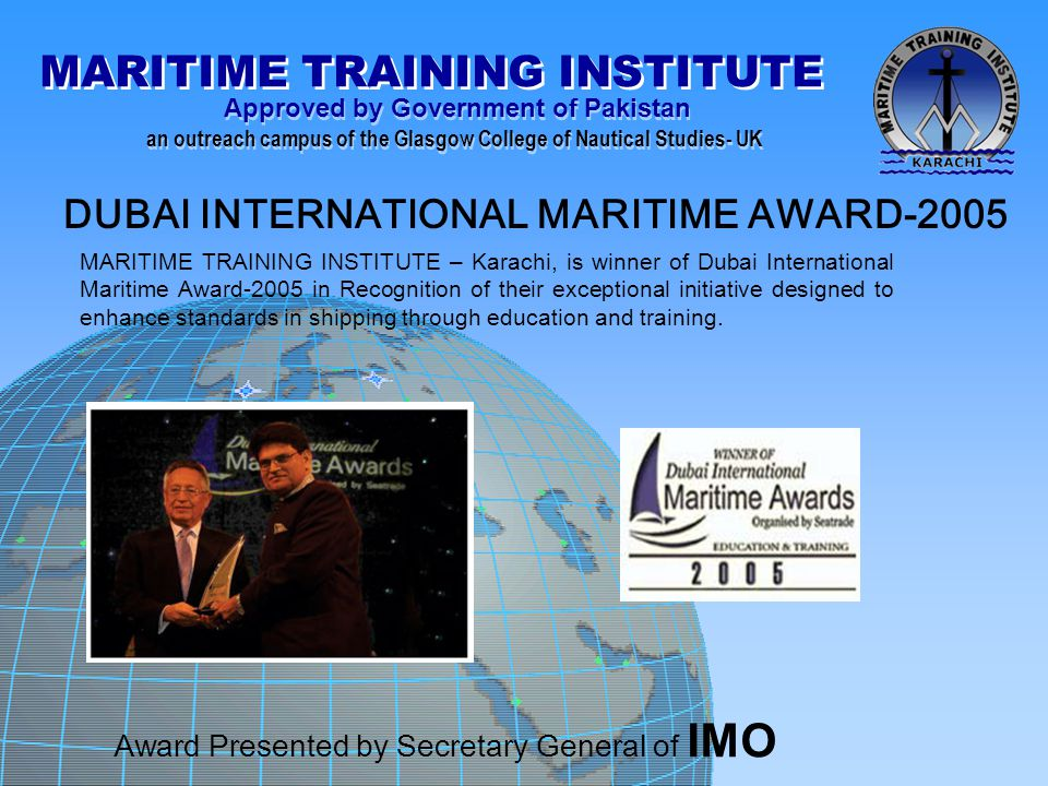 DUBAI INTERNATIONAL MARITIME AWARD-2005