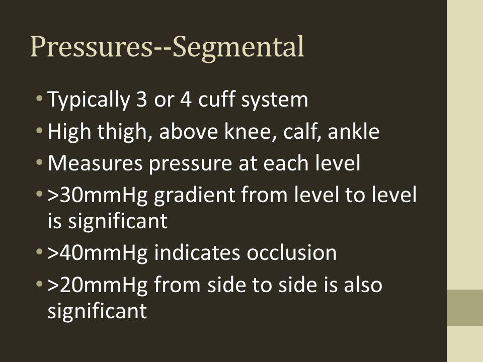 Pressures--Segmental