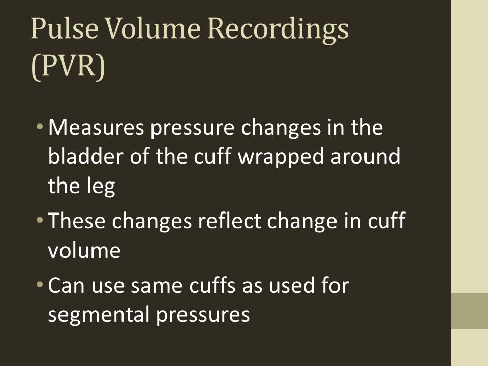 Pulse Volume Recordings (PVR)