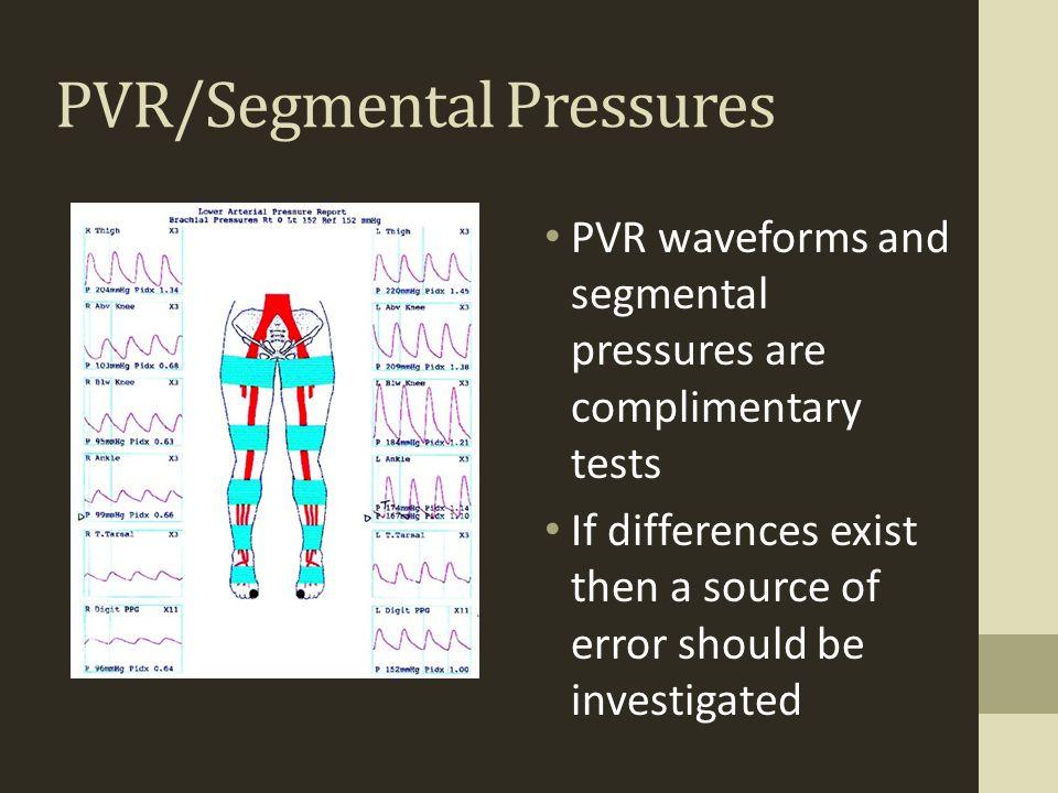 PVR/Segmental Pressures