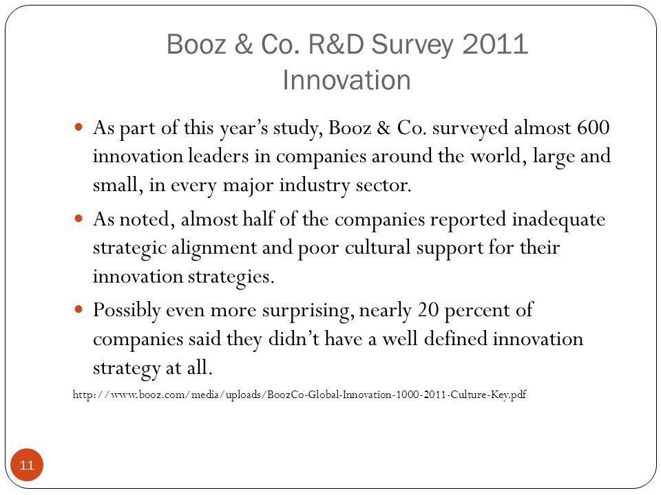 Booz & Co. R&D Survey 2011 Innovation