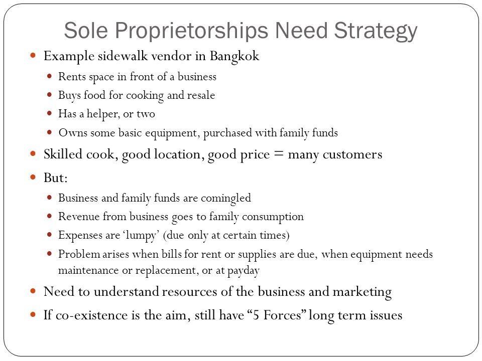 Sole Proprietorships Need Strategy