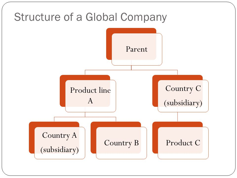 Structure of a Global Company