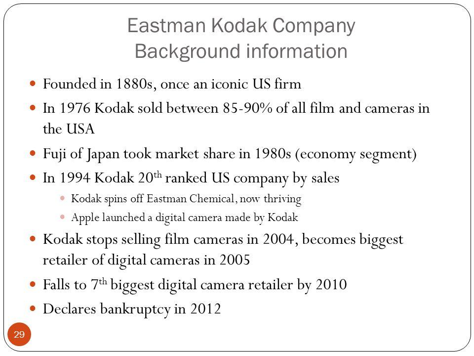 Eastman Kodak Company Background information