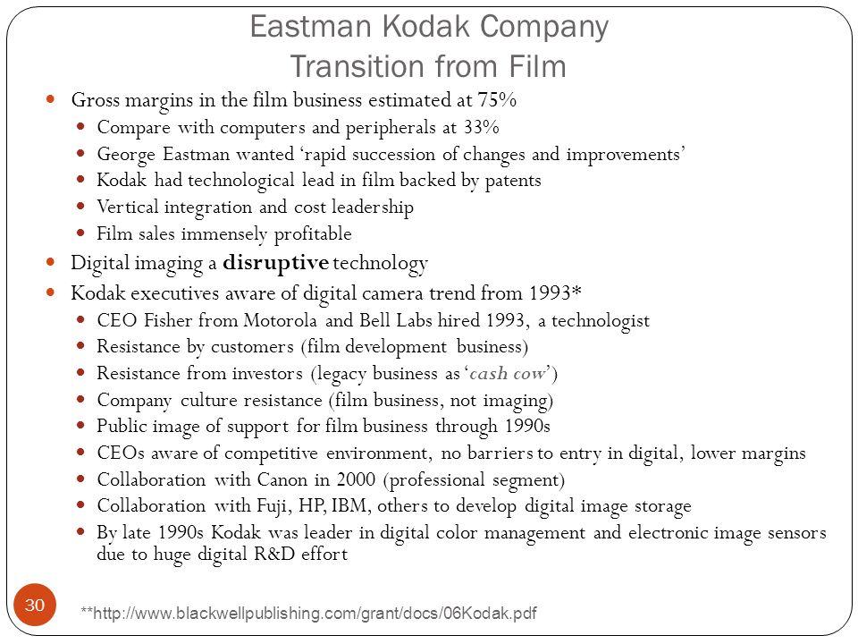 Eastman Kodak Company Transition from Film