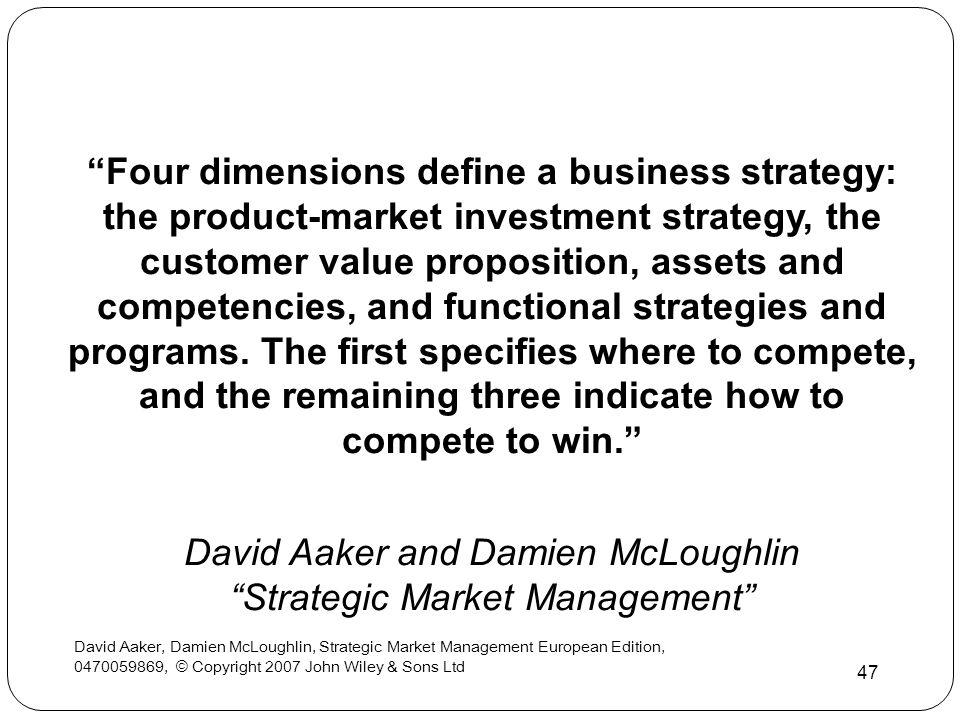 David Aaker and Damien McLoughlin Strategic Market Management