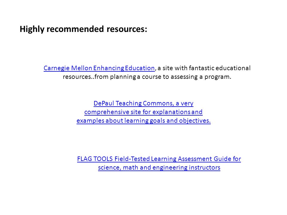Highly recommended resources: