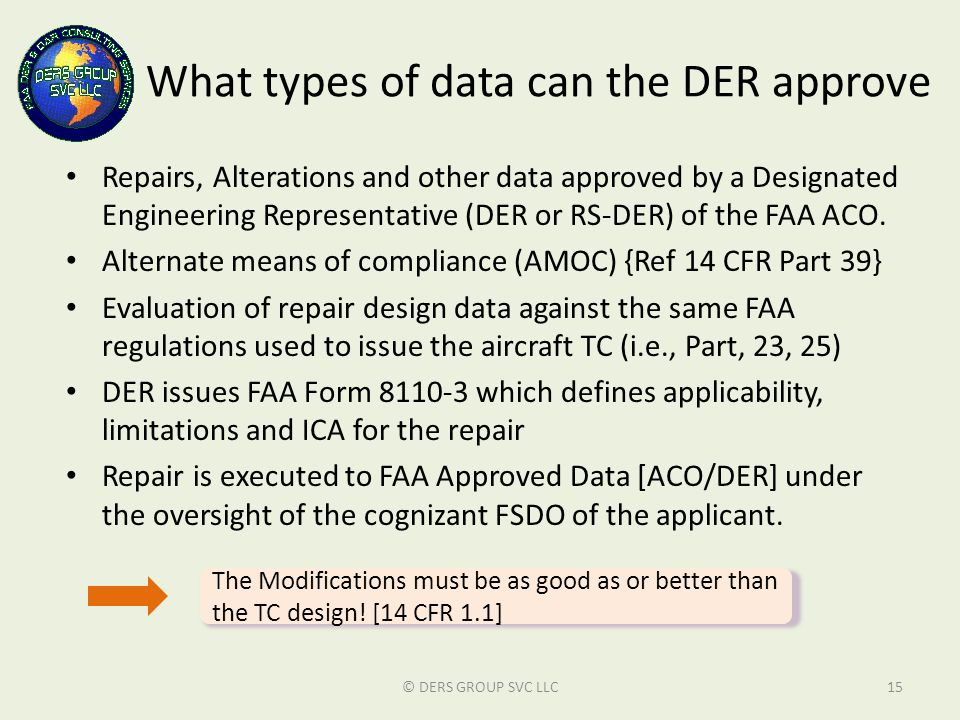 What types of data can the DER approve