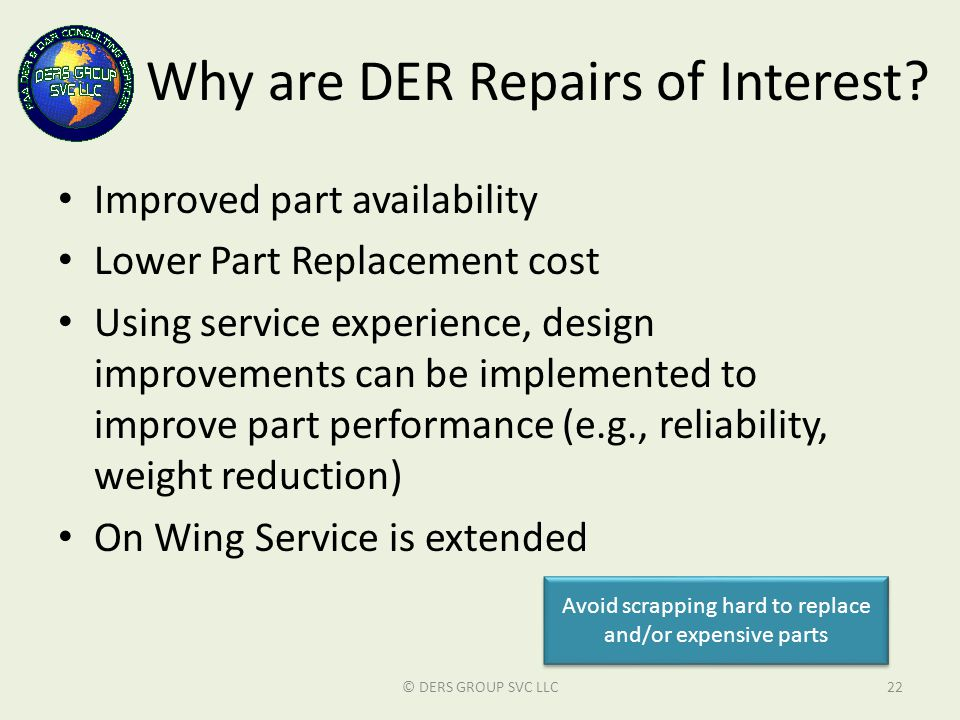 Why are DER Repairs of Interest