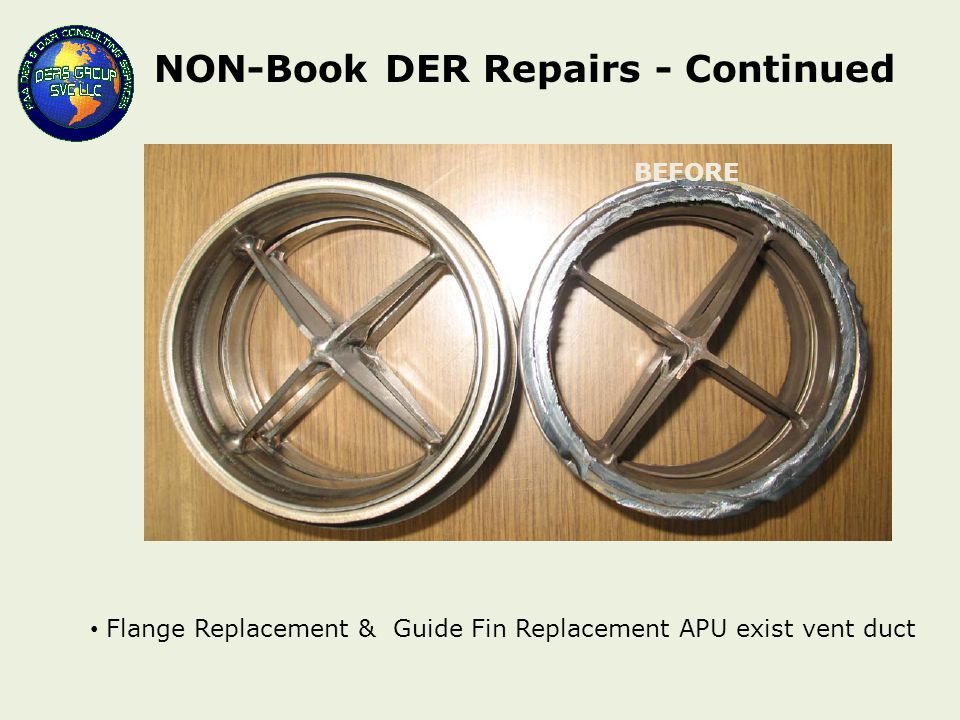 NON-Book DER Repairs - Continued