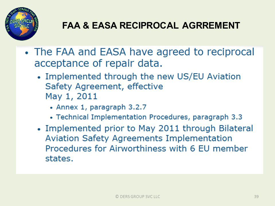 Faa der approved modifications repairs alterations workshop faa easa reciprocal agrrement platinumwayz