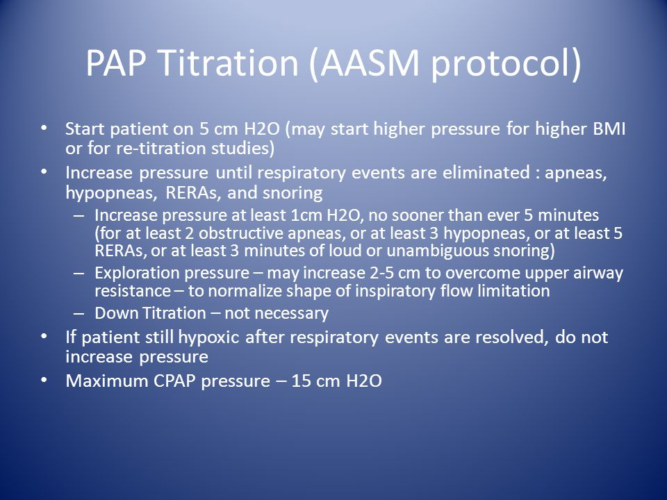 PAP Titration (AASM protocol)