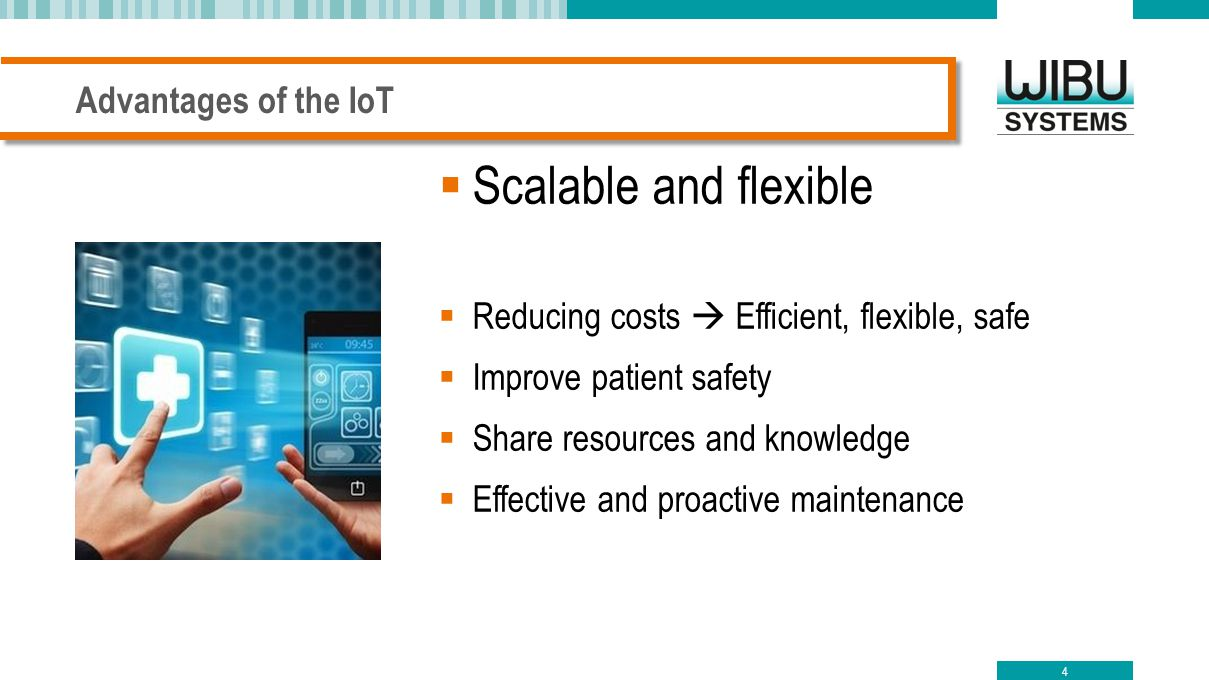 Scalable and flexible Advantages of the IoT