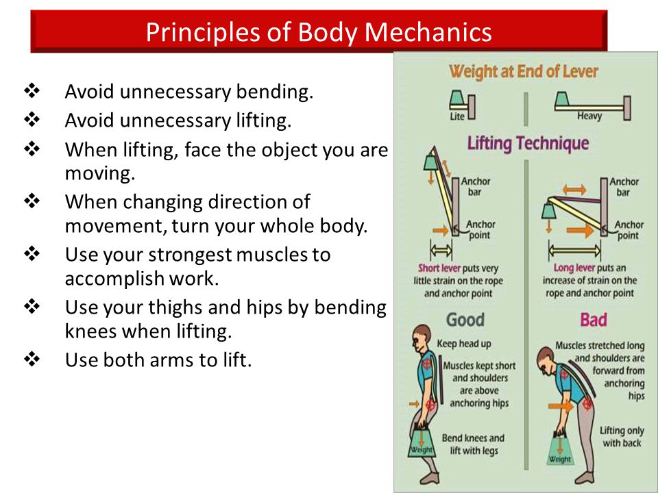 Principles of Body Mechanics