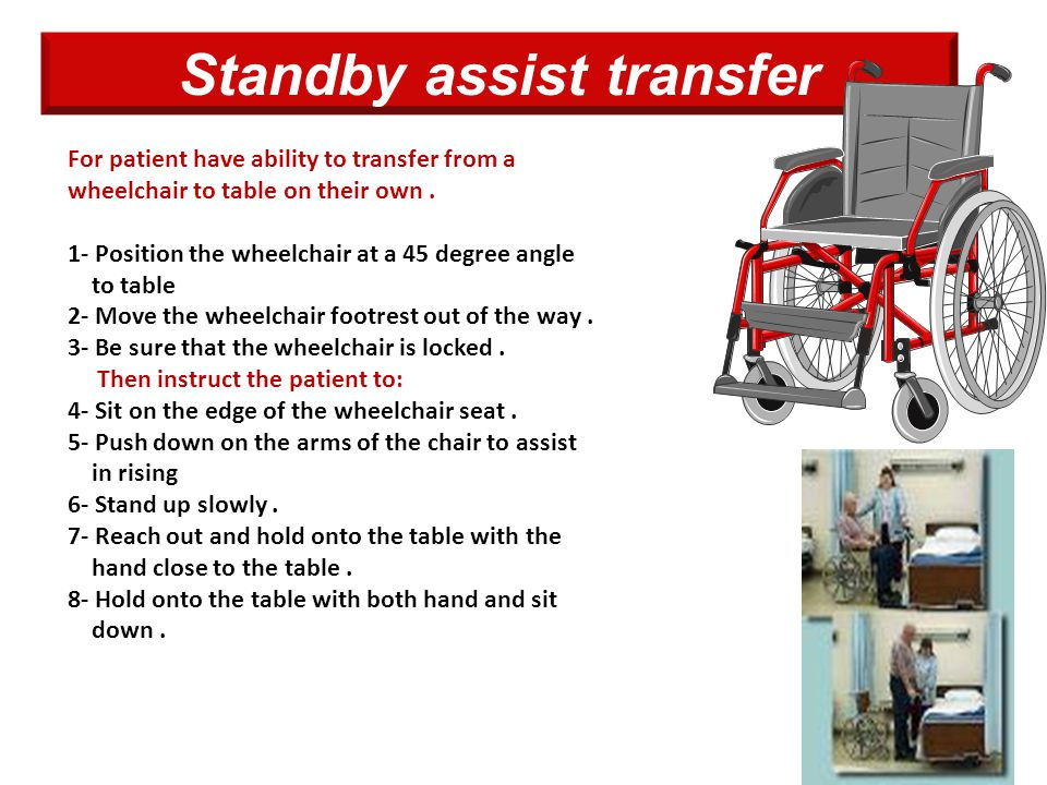 Standby assist transfer