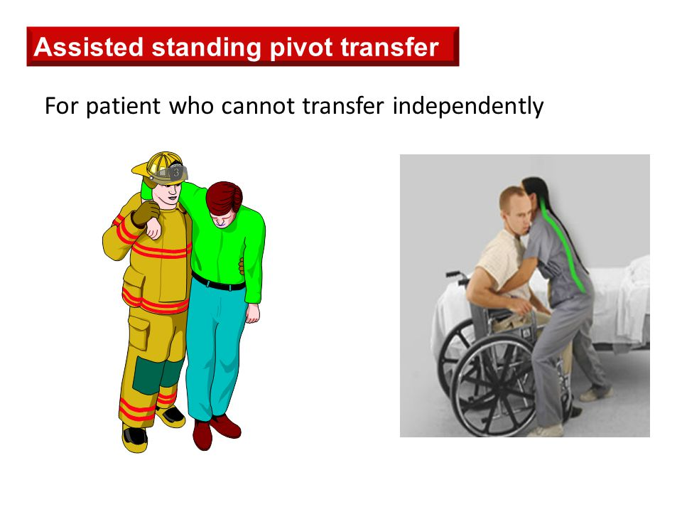 Assisted standing pivot transfer