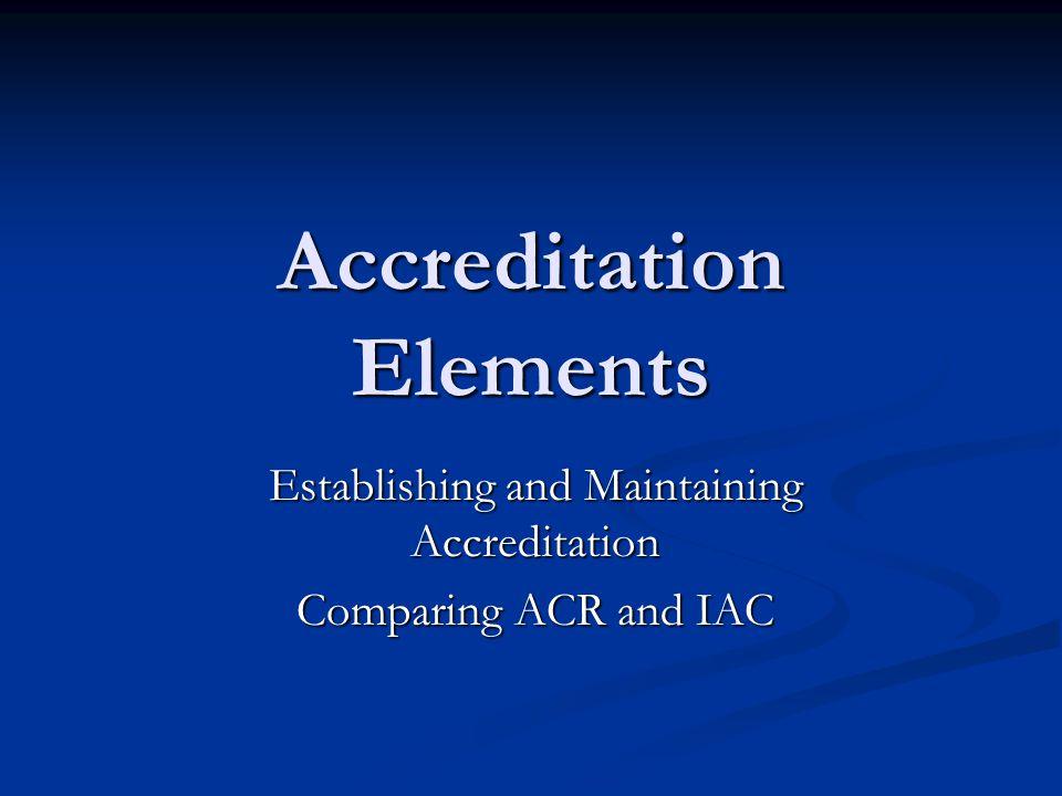 Accreditation Elements