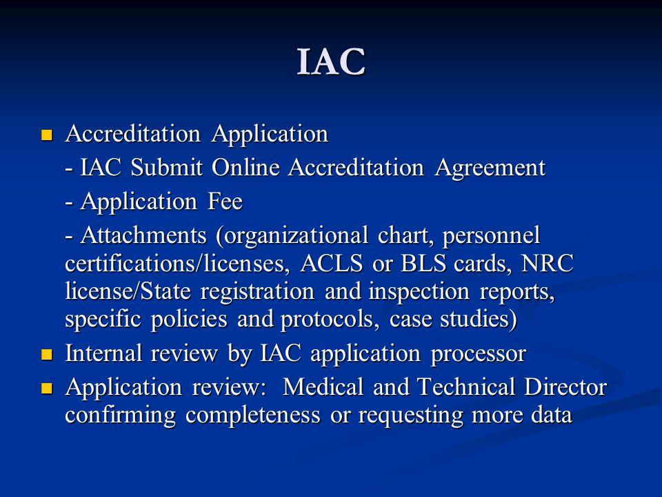 IAC Accreditation Application