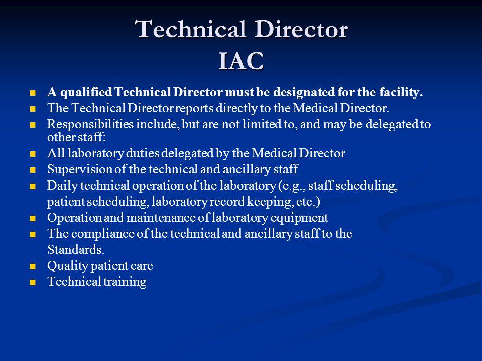 Technical Director IAC