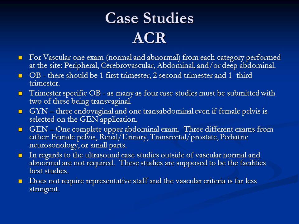 Case Studies ACR