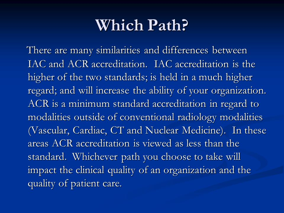 Which Path