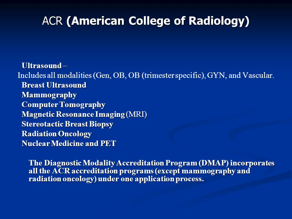 ACR (American College of Radiology)