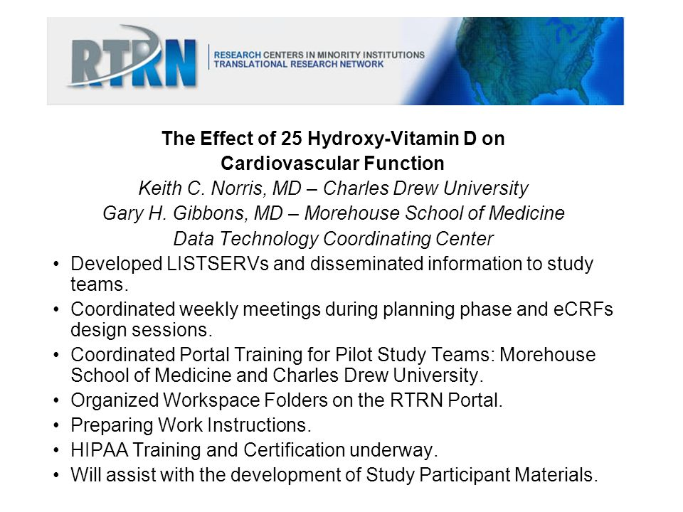 The Effect of 25 Hydroxy-Vitamin D on Cardiovascular Function