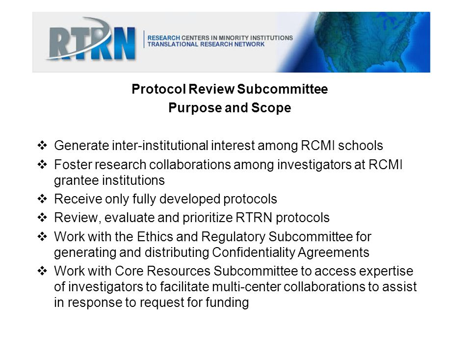 Protocol Review Subcommittee
