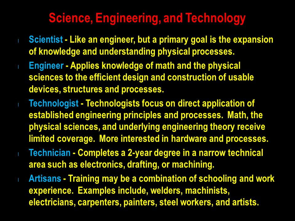 Science, Engineering, and Technology