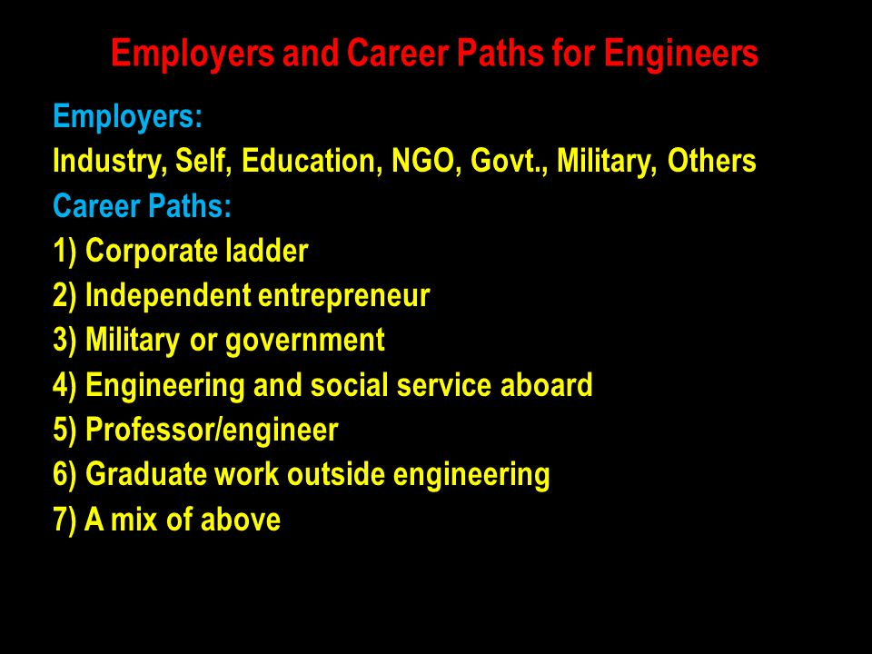 Employers and Career Paths for Engineers