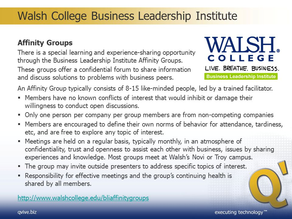 Walsh College Business Leadership Institute