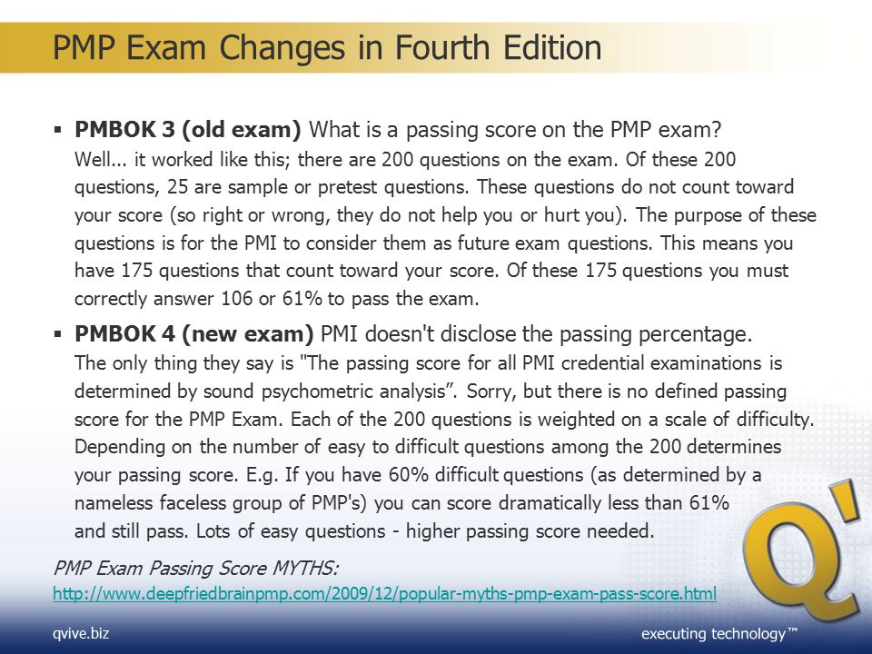 PMP Exam Changes in Fourth Edition