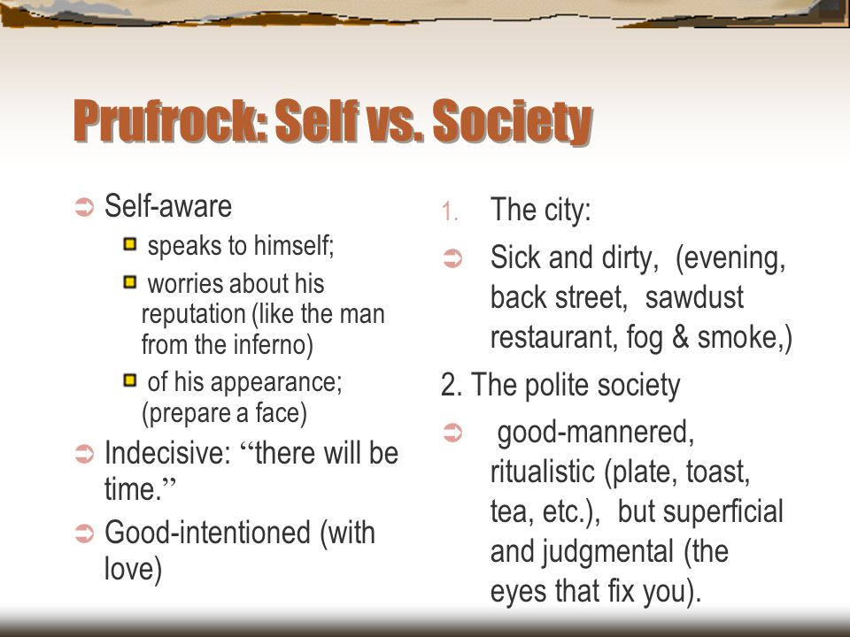 Prufrock: Self vs. Society
