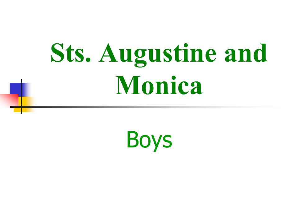 Sts. Augustine and Monica