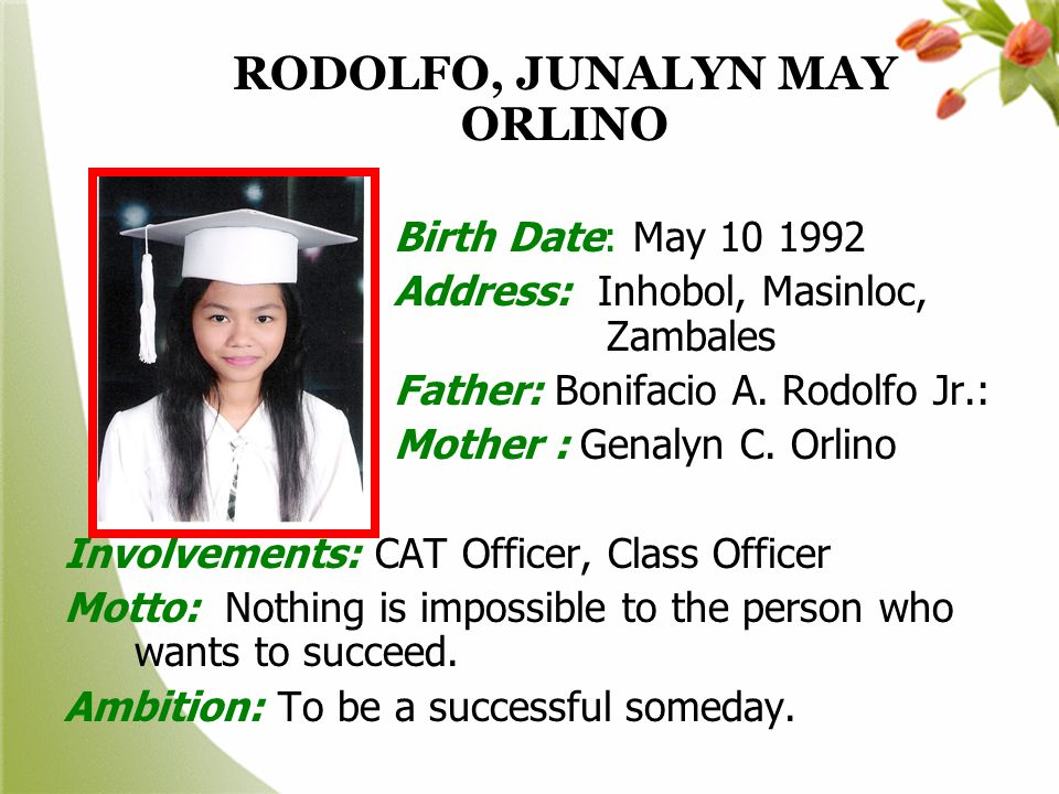 RODOLFO, JUNALYN MAY ORLINO
