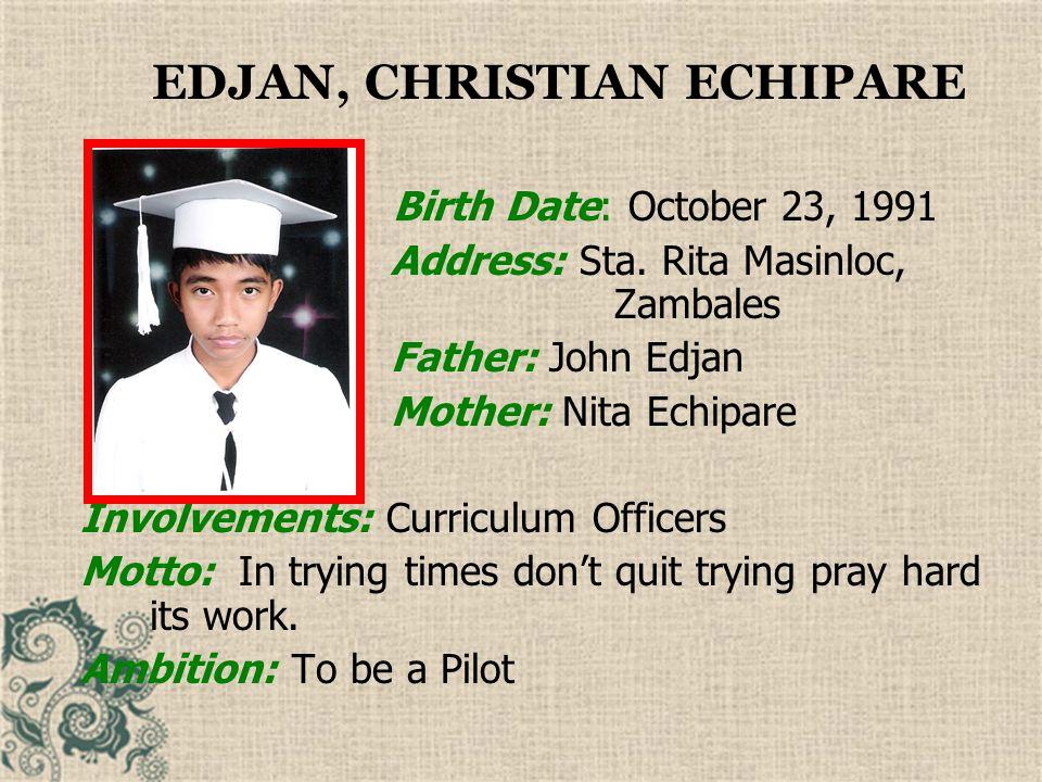 EDJAN, CHRISTIAN ECHIPARE