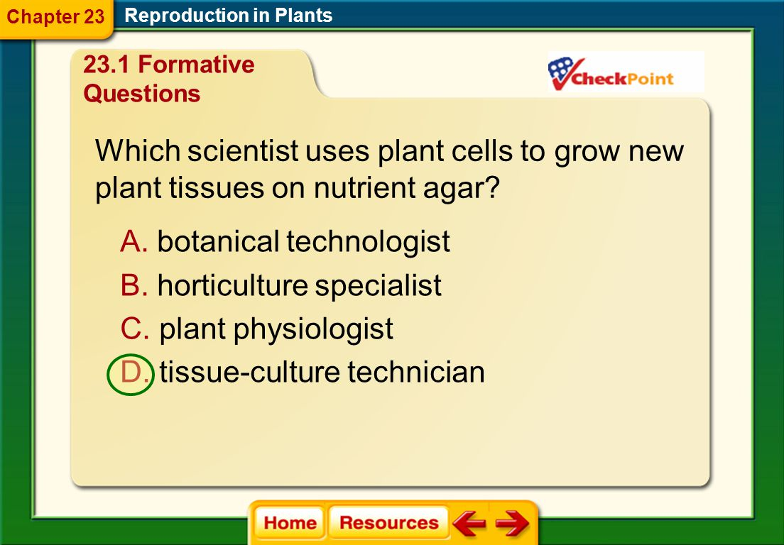 Which scientist uses plant cells to grow new