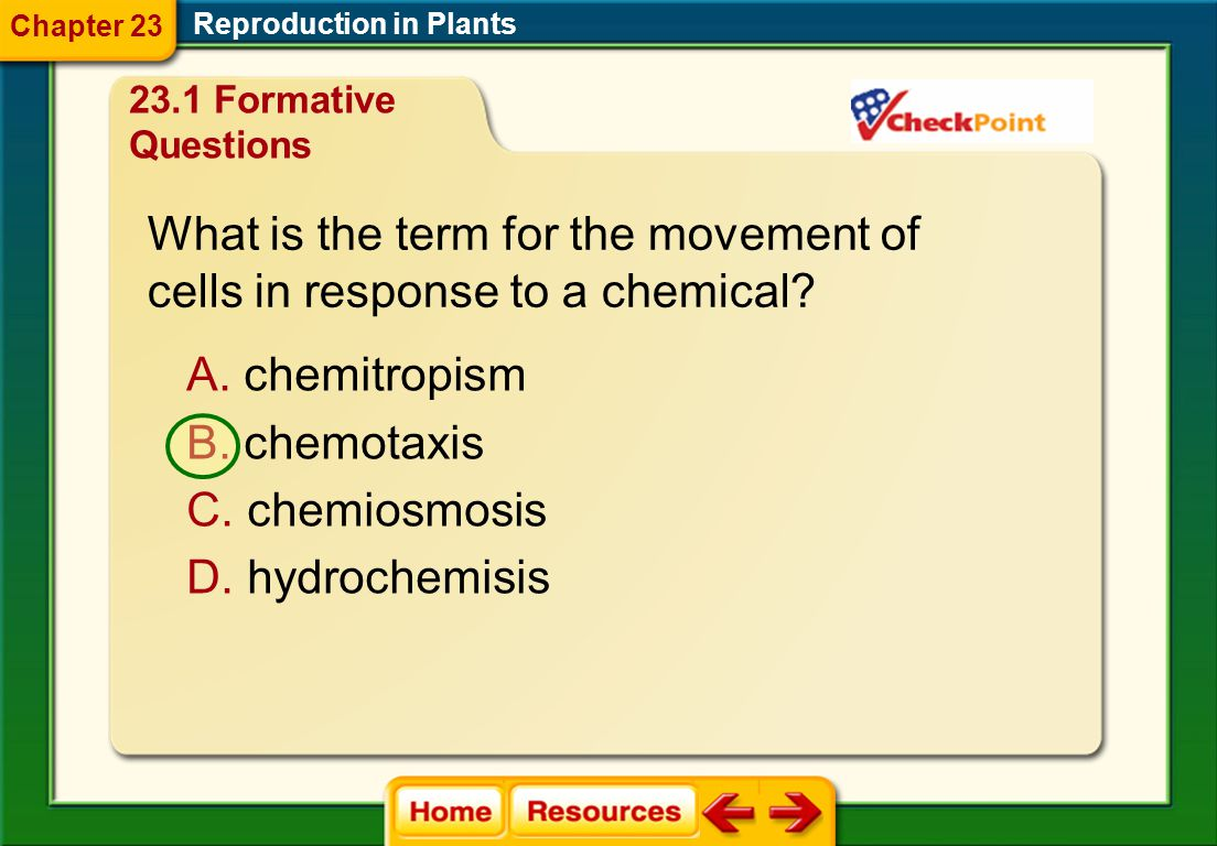 What is the term for the movement of cells in response to a chemical