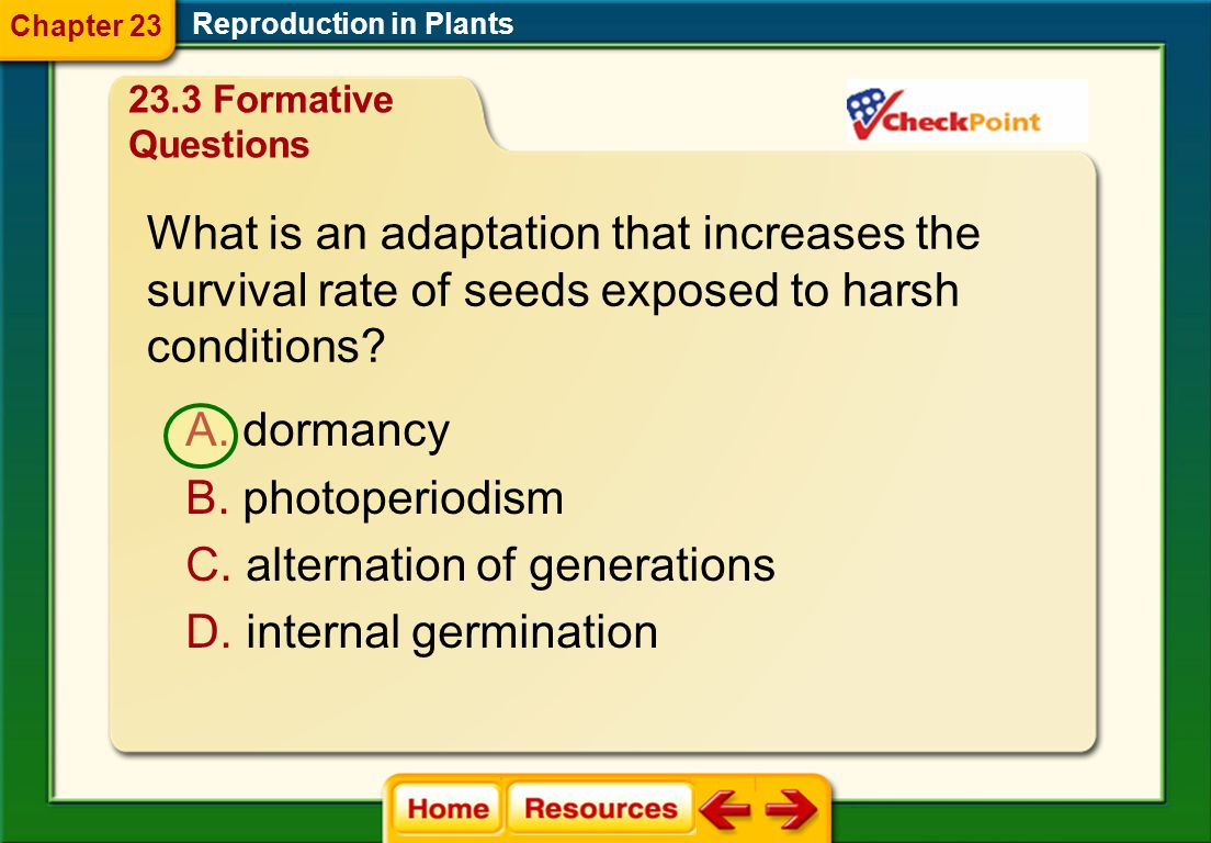 What is an adaptation that increases the