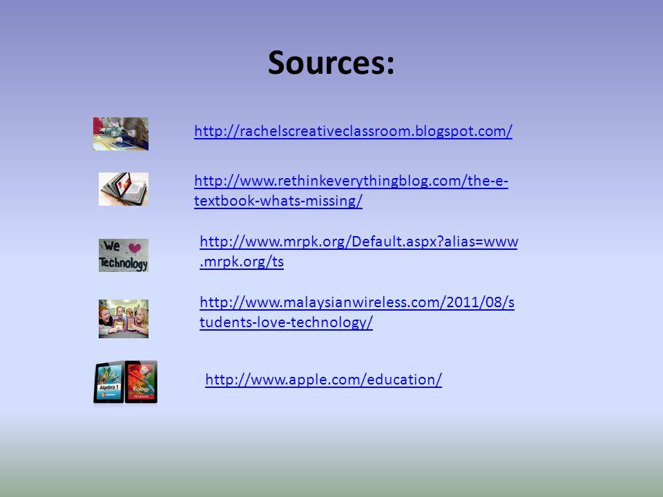 Sources: http://rachelscreativeclassroom.blogspot.com/