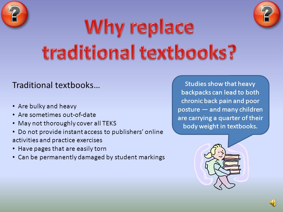 traditional textbooks