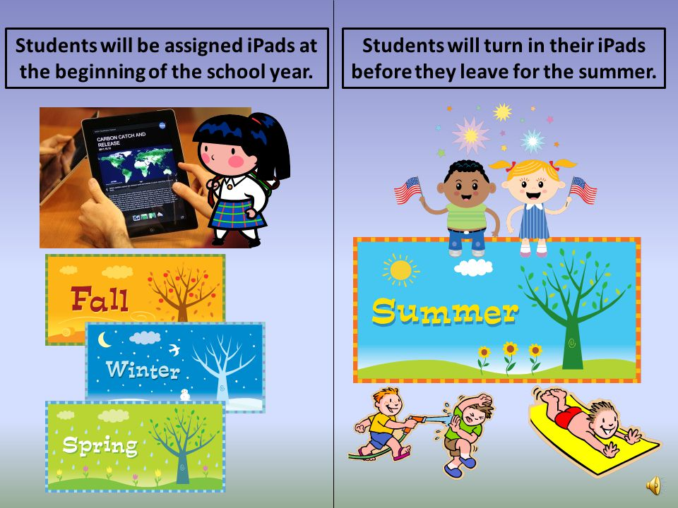 Students will be assigned iPads at the beginning of the school year.