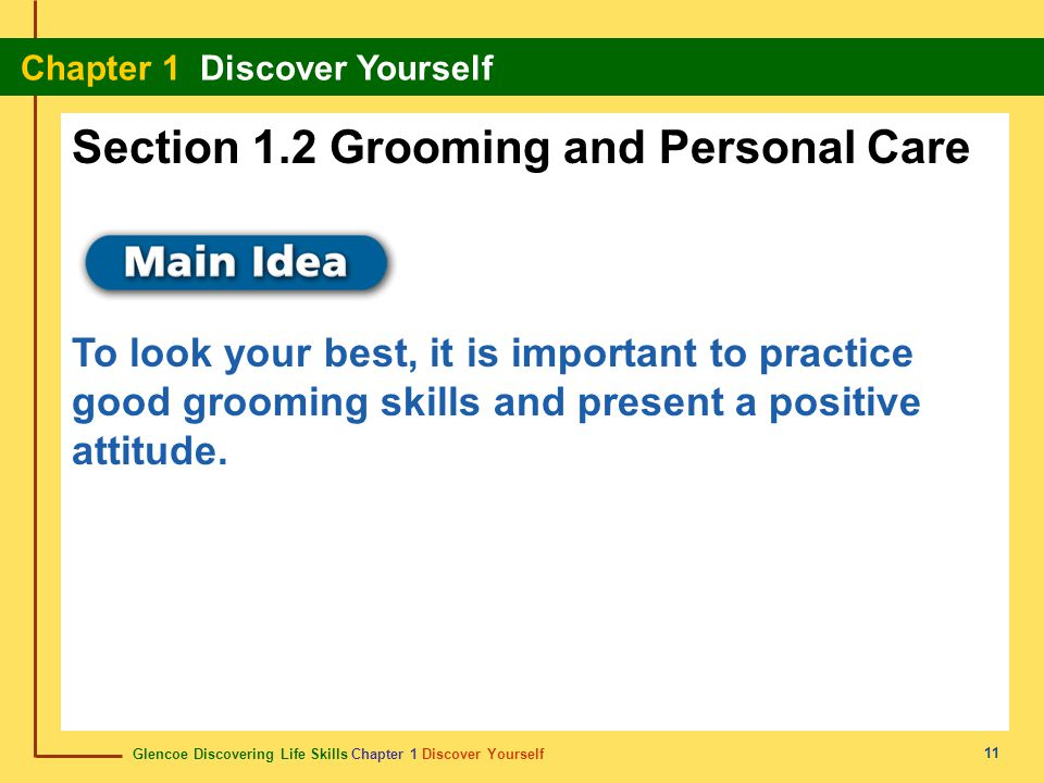 Section 1.2 Grooming and Personal Care