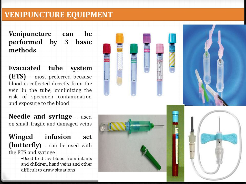 VENIPUNCTURE EQUIPMENT