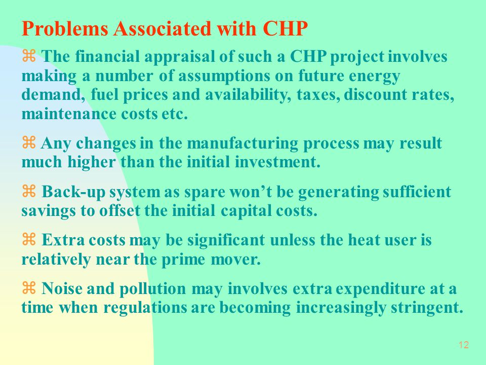 Problems Associated with CHP