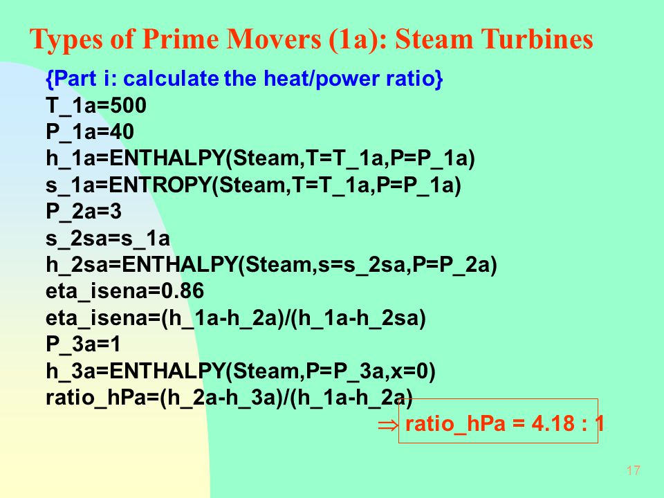 Types of Prime Movers (1a): Steam Turbines