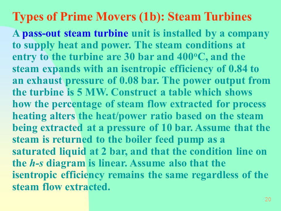 Types of Prime Movers (1b): Steam Turbines