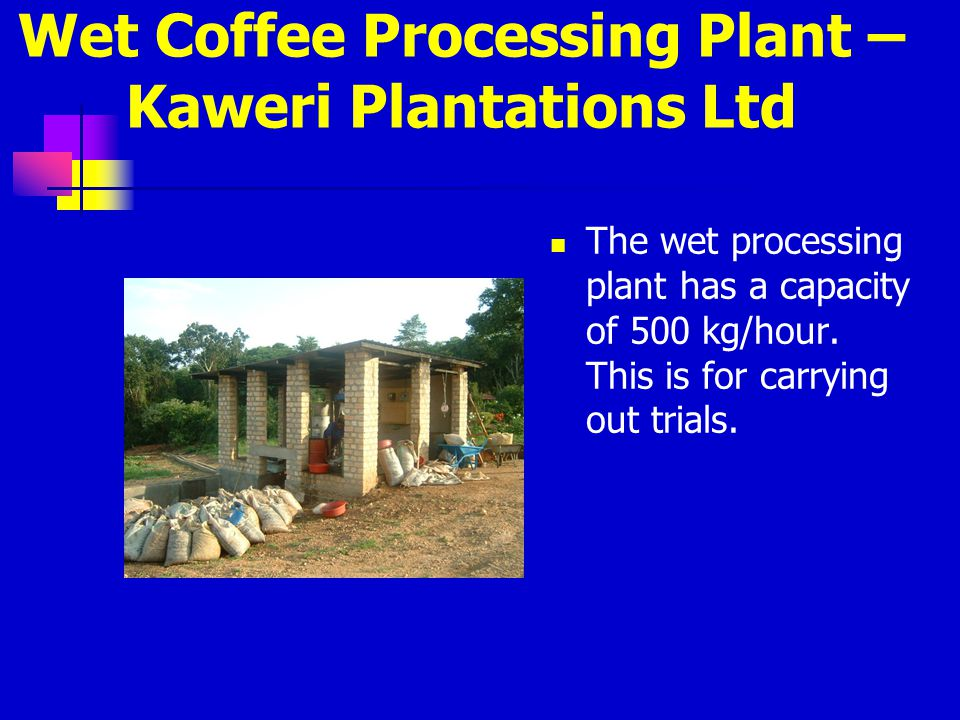 Wet Coffee Processing Plant – Kaweri Plantations Ltd