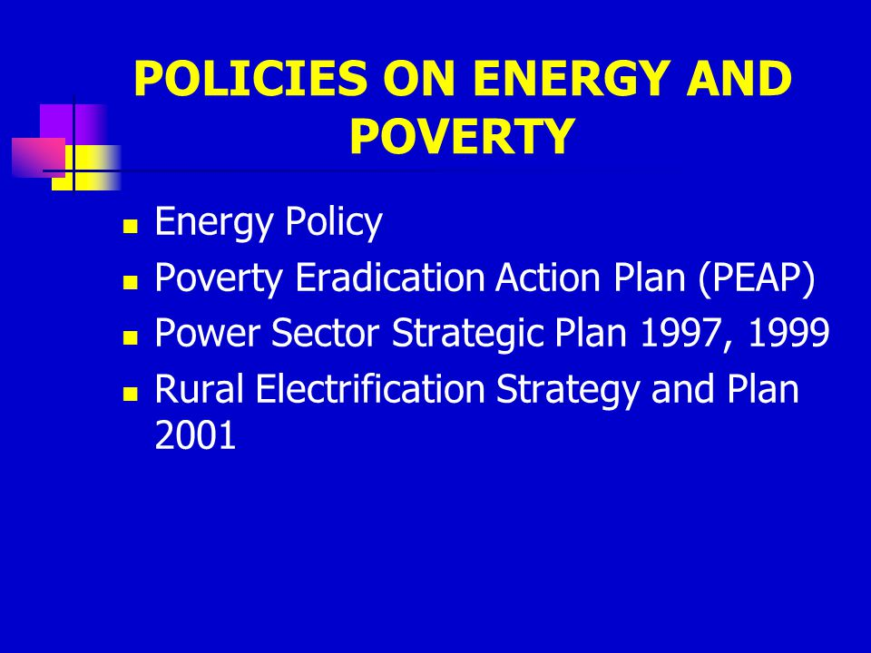 POLICIES ON ENERGY AND POVERTY